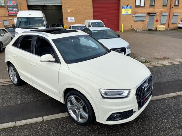 2014 14 AUDI Q3 2.0L TDI QUATTRO S LINE 5d 138 BHP A RARE OPENING PAN ROOF MODEL19 INCH ALLOYS SAT NAV FULL LEATHER  SOLD TO LEWIS FROM SHEFFIELD
