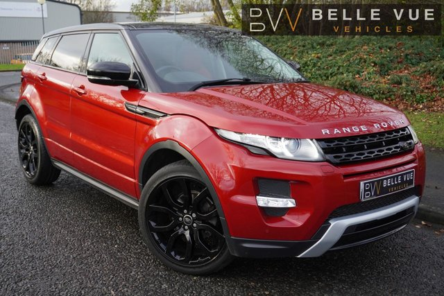 """USED 2013 63 LAND ROVER RANGE ROVER EVOQUE 2.2 SD4 DYNAMIC 5d 190 BHP - FREE DELIVERY* *HUGE SPEC, FIRENZE RED, PERFORATED TAURUS LEATHER INTERIOR, 20"""" ALLOY WHEELS!*"""