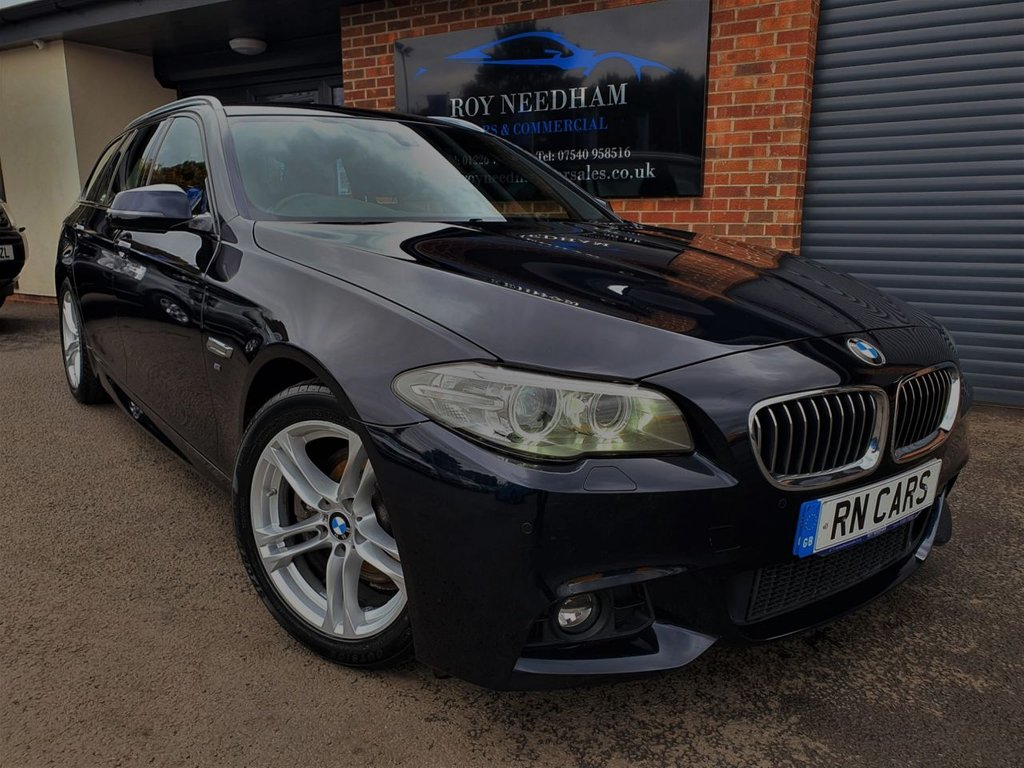 USED 2016 66 BMW 5 SERIES 2.0 520D M SPORT TOURING 5DR 188 BHP *** NAV - HEATED LEATHER - SENSORS ***