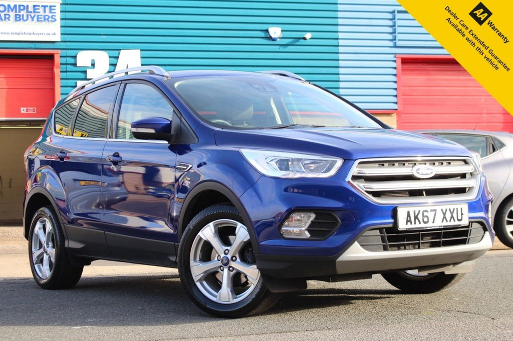 USED 2018 67 FORD KUGA 1.5 TITANIUM 5d 148 BHP ** FULL SERVICE HISTORY ** BRAND NEW SERVICE + ADVISORY FREE MOT ** UPGRADED SAT NAV - REAR CAMERA - BLIND SPOT MONITORING SYSTEM ** CRUISE CONTROL ** BLUETOOTH ** DAB RADIO ** AUTO LIGHTS + WIPERS ** LOW RATE £0 DEPOSIT FINANCE AVAILABLE **