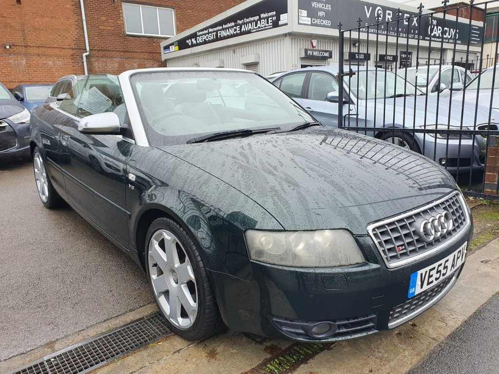 USED 2005 55 AUDI A4 4.2 S4 QUATTRO 2d 339 BHP FULL LEATHER/SUEDE CONVERTIBLE