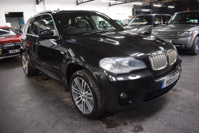 USED 2011 11 BMW X5 3.0 XDRIVE40D M SPORT 5d 302 BHP 7 SEATS 302 BHP XDRIVE 40D M SPORT - 7 SEATS - 8 BMW STAMPS TO 73K - LEATHER - PRO NAV - GLASS PANROOF - REVERSE & TOP VIEW CAMERA