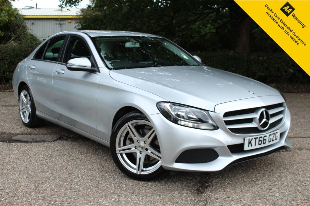 "USED 2017 66 MERCEDES-BENZ C-CLASS 2.1 C220 D SE 4d 170 BHP ** FULL MERCEDES SERVICE HISTORY ** LONG ADVISORY FREE MOT ** UPGRADED 18"" ALLOY WHEELS  ** REAR PARKING CAMERA ** FULL LEATHER INTERIOR ** ELECTRIC DRIVERS SEAT ** CRUISE CONTROL ** BLUETOOTH ** CLIMATE CONTROL ** AUTO LIGHTS + WIPERS ** ONLY £20 ROAD TAX ** ULEZ CHARGE EXEMPT ** LOW RATE £0 DEPOSIT FINANCE AVAILABLE ** NATIONWIDE DELIVERY AVAILABLE ** CLICK & COLLECT AVAILABLE **"