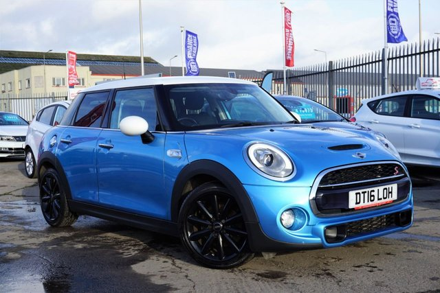 USED 2016 16 MINI HATCH COOPER 2.0 COOPER S 5d 189 BHP *STUNNING ELECTRIC BLUE METALLIC COOPER S ONLY ONE LADY OWNER FROM NEW *