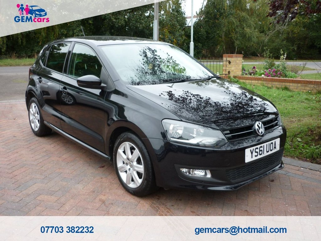 USED 2012 61 VOLKSWAGEN POLO 1.2 MATCH 5d 59 BHP GO TO www.gemcarsltd.co.uk TO WATCH A WALKROUND VIDEO