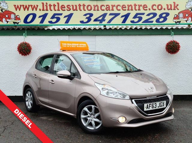 USED 2013 63 PEUGEOT 208 1.4 HDI ACTIVE 5d 68 BHP FULL SERVICE HISTORY, DIESEL, 12 MONTHS MOT, FINANCE AVAILABLE