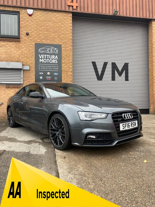 USED 2016 16 AUDI A5 2.0 TDI QUATTRO BLACK EDITION PLUS 3d 187 BHP