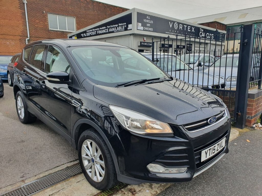 USED 2015 15 FORD KUGA 2.0 TITANIUM TDCI 5d 177 BHP SONY SOUND + PART LEATHER
