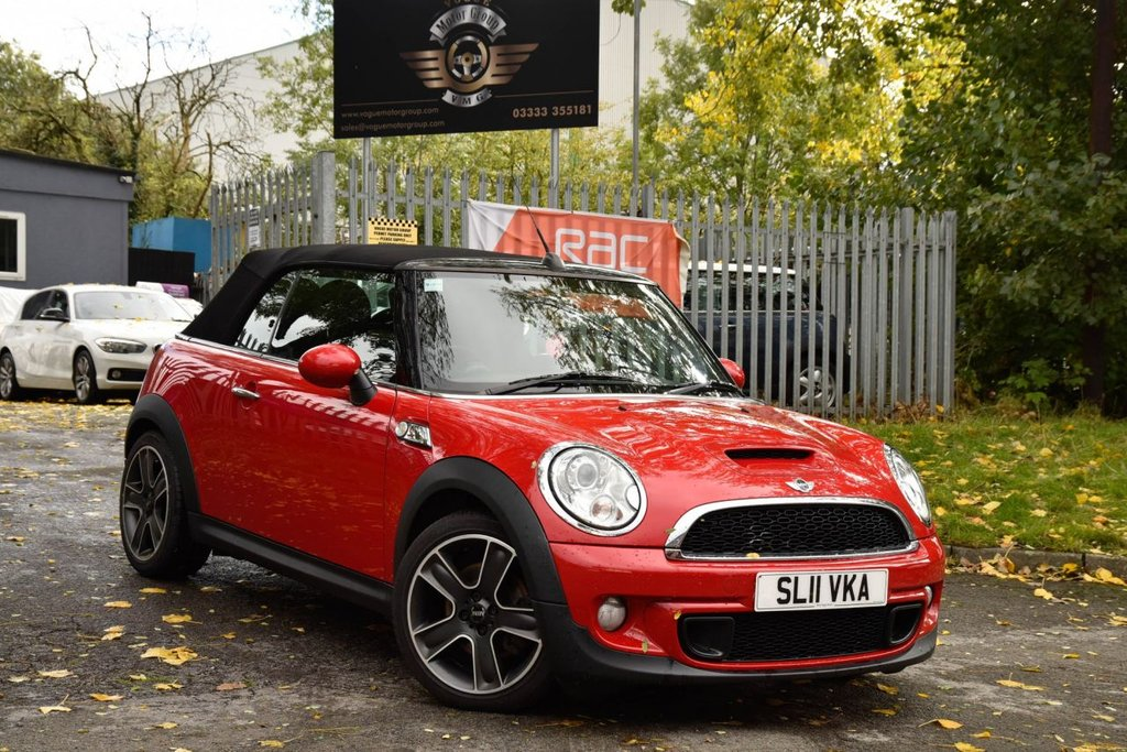 USED 2011 11 MINI CONVERTIBLE 1.6 COOPER S 2d 184 BHP