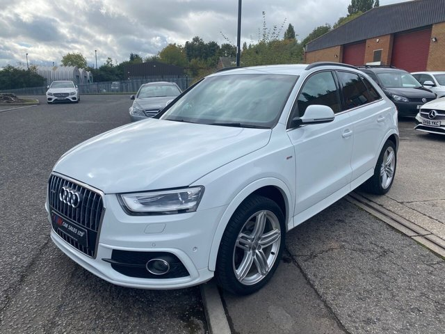2013 63 AUDI Q3 2.0 TDI QUATTRO S LINE 5d 175 BHP FULL AUDI HISTORY 6 MAIN DEALER STAMPS TIMING BELT WATER PUMP DONE SOLD TO BEN  FROM CHESTERFIELD