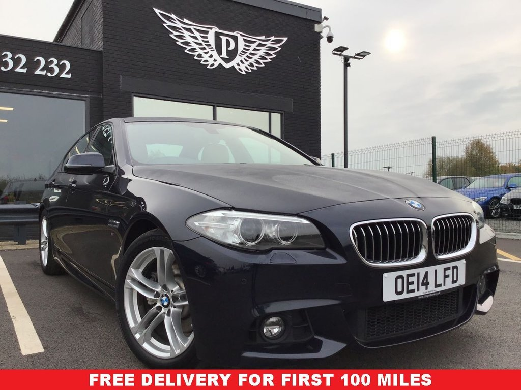 USED 2014 14 BMW 5 SERIES 2.0 520D M SPORT 4d 181 BHP CLEAN EXAMPLE , LOW MILEAGE