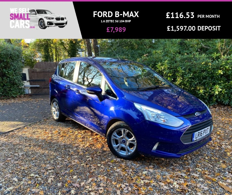 USED 2016 16 FORD B-MAX 1.6 ZETEC 5d 104 BHP 2 OWNERS FULL SERVICE HISTORY RARE AUTOMATIC ALLOYS AIR CON