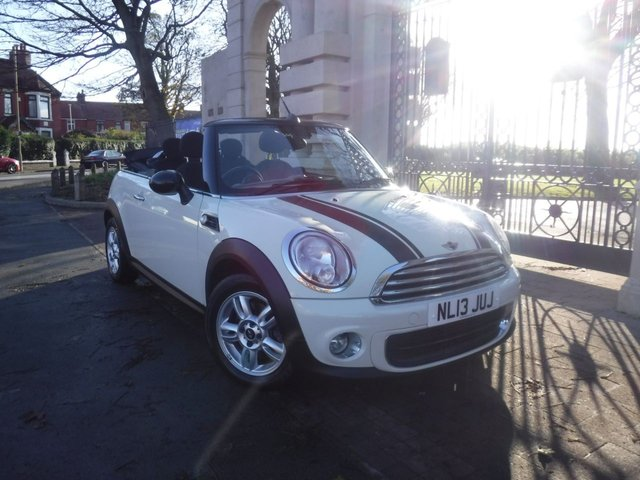 USED 2013 13 MINI CONVERTIBLE 1.6 ONE 2d 98 BHP *** FINANCE & PART EXCHANGE WELCOME *** ELECTRIC ROOF BLUETOOTH PHONE DAB RADIO AUX & USB SOCKETS