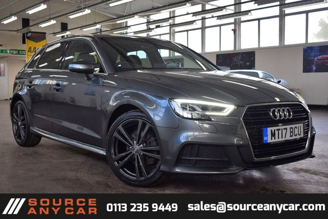 USED 2017 17 AUDI A3 1.6 TDI S LINE 5d 114 BHP + 1 OWNER  +  FULL SERVICE HISTORY + 12  MONTHS WARRANTY + 12 MONTHS MOT + SAT-NAV +