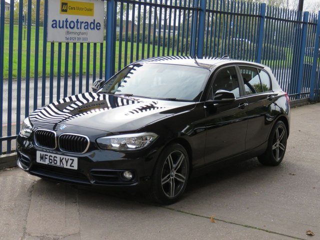 USED 2016 66 BMW 1 SERIES 2.0 118D SPORT 5d 147 BHP AUTOMATIC, SAT NAV, FRONT AND REAR SENSORS ULEZ COMPLIANT Automatic transmission, Heated Sports Front Seats, SAT NAV, BLUETOOTH, Front and Rear Parking distance control, DAB Digital radio