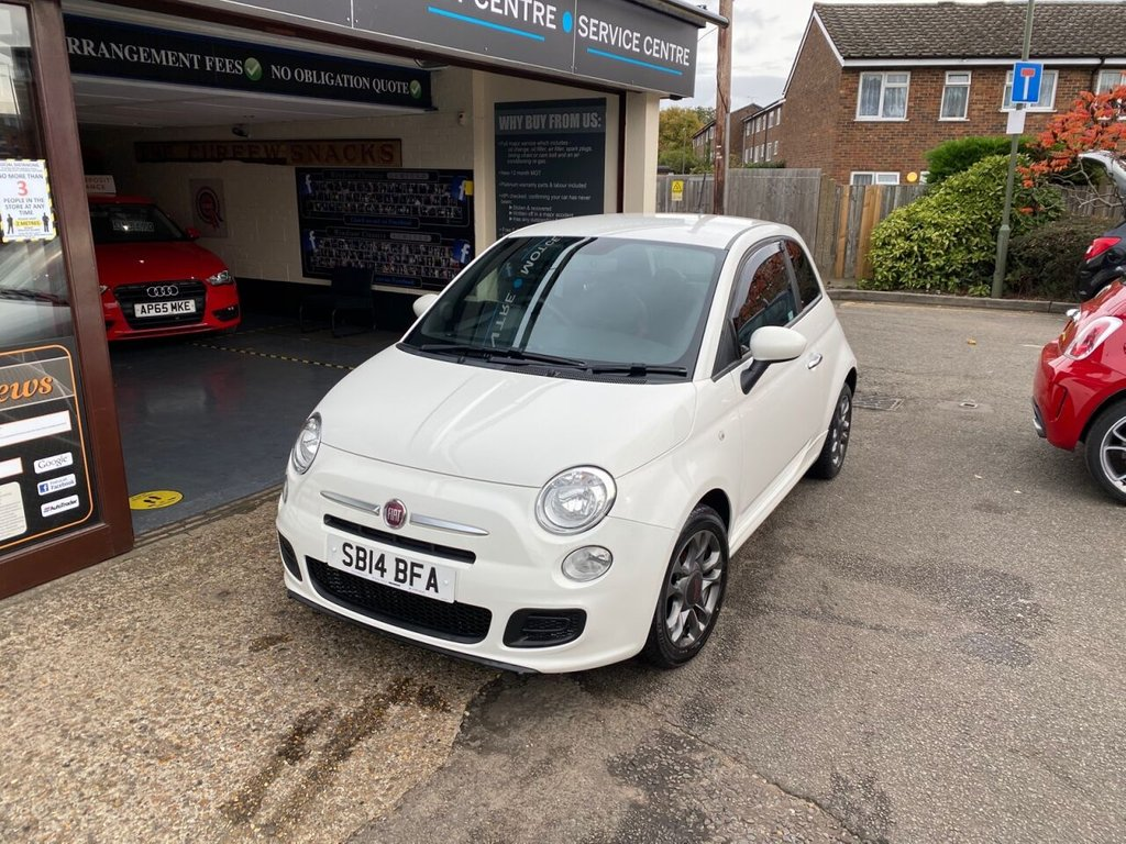USED 2014 14 FIAT 500 1.2 S 3d 69 BHP BLUETOOTH - USB - AUX - AIRCON