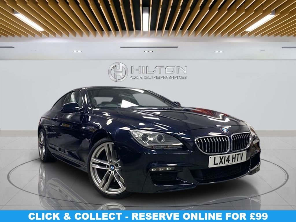 """USED 2014 14 BMW 6 SERIES 3.0 640D M SPORT 2d 309 BHP Navigation System, Leather Seats, 20"""" Alloy Wheels, Parking Sensor(s), Climate Control, Privacy Glass"""