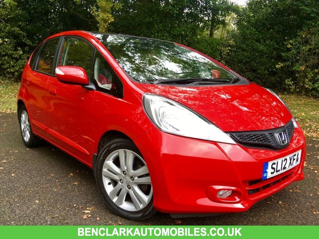 2012 12 HONDA JAZZ 1.3 I-VTEC EXL 5d AUTO 98 BHP 1 OWNER/ FULL LEATHER /PANORAMIC ROOF/X5 SERVICE STAMPS