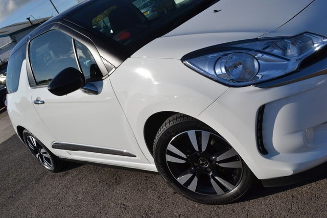 USED 2016 66 DS DS 3 1.2 PURETECH CHIC 3d 80 BHP ~ BLACK ROOF & MIRROR CAPS FULL CITROEN SERVICE RECORDS ~ 2 KEYS ~ BLACK ROOF