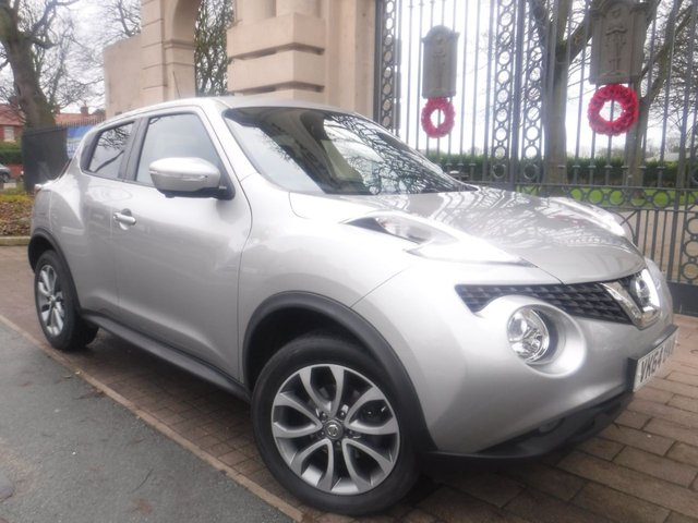 USED 2014 64 NISSAN JUKE 1.5 TEKNA DCI 5d 110 BHP FINANCE ARRANGED**PART EXCHANGE WELCOME**£20 TAX*360CAMERAS*LEATHER*NAV*SERVICE HISTORY*DAB*6 SPEED*AUX*USB