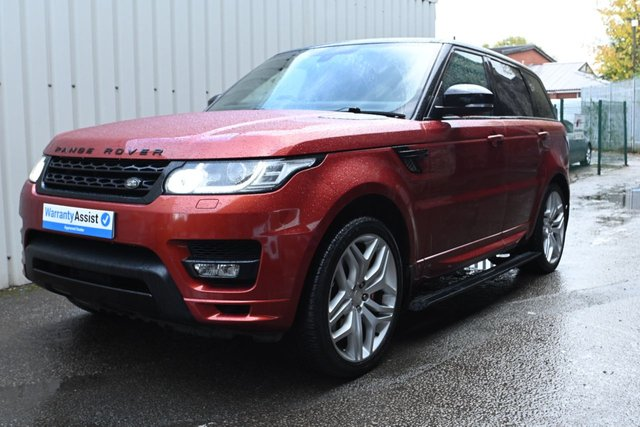 USED 2014 14 LAND ROVER RANGE ROVER SPORT 5.0 V8 AUTOBIOGRAPHY DYNAMIC 5d 510 BHP A stunning looking example with a huge standard specification , looking stunning in Chile Red