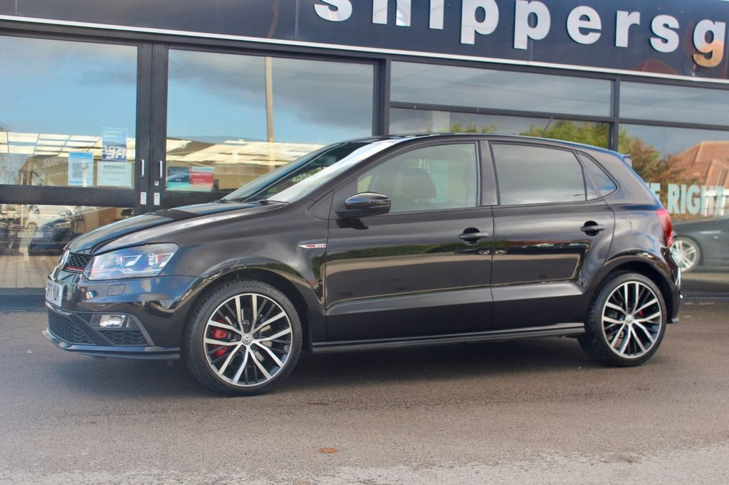 """USED 2017 17 VOLKSWAGEN POLO 1.8 GTI 3d 192 BHP 1 Previous Owner, DAB Digital Radio, Touch Screen Media System, 17"""" Alloy Wheels, Bluetooth Phone and Music. USB/AUX Inputs, Privacy Glass, CD Player, Air Conditioning, Electric Mirrors, Rear Spoiler, Multi Function Steering Wheel, Remote Central Locking, 2 Keys and Book Pack, Full VW Service History,"""