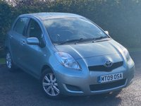 USED 2009 09 TOYOTA YARIS 1.3 TR VVT-I 5d 99 BHP GOOD VALUE FOR MONEY STARTER CAR