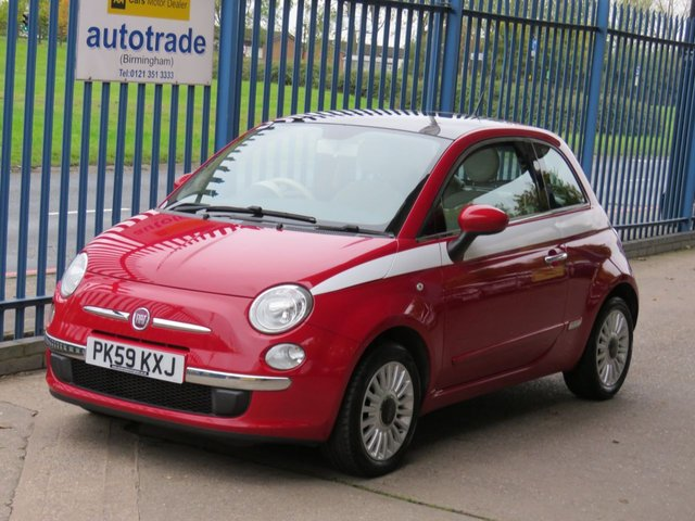 USED 2009 59 FIAT 500 1.2 LOUNGE 3dr 69 Air con Pan roof Alloys Bluetooth Finance arranged Part exchange available Open 7 days ULEX Compliant