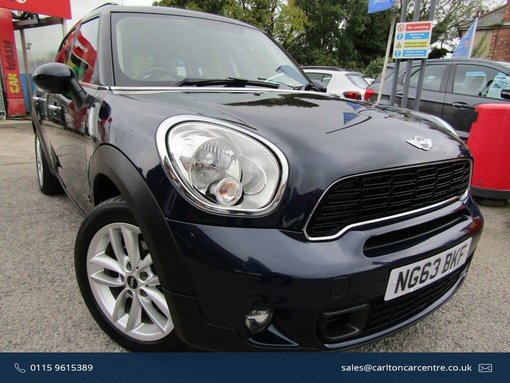 USED 2013 63 MINI COUNTRYMAN 2.0 COOPER SD ALL4 5d 141 BHP VERY ATTRACTIVE MINI AUTOMATIC ALL4,,WITH LOW MILEAGE ONLY COVERED 38000 MILES,, GREAT ECONOMY ,, SERVICED BEFORE COLLECTION,, PART EXCHANGE WELCOME,, FINANCE PACKAGES AVAILABLE... PLEASE CALL TO VIEW AND BOOK A TEST DRIVE. 01159615389.