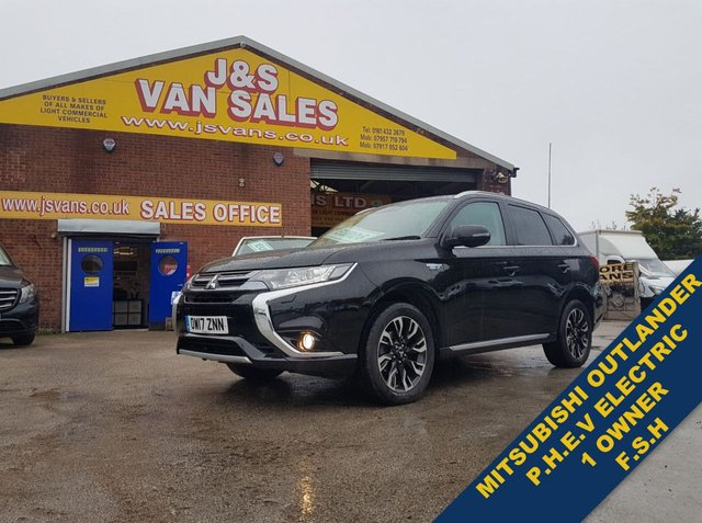 USED 2017 17 MITSUBISHI OUTLANDER  PHEV JURO COMMERCIAL 200 BHP AUTO ELECTRIC ###### BIG STOCK OVER VANS OVER 100 ON SITE #######