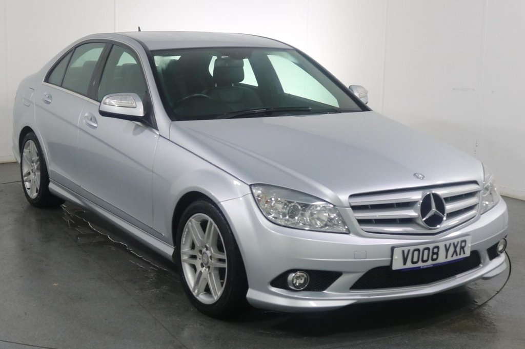 USED 2008 08 MERCEDES-BENZ C-CLASS 1.8 C200 KOMPRESSOR SPORT 4d 181 BHP 3 OWNERS with 10 Stamp SERVICE HISTORY