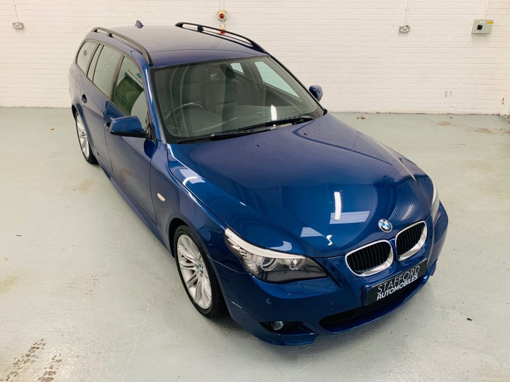 USED 2009 59 BMW 5 SERIES 2.0 520D M SPORT BUSINESS EDITION TOURING 5d 175 BHP 1 FORMER KEEPER FROM NEW, SAT NAV, LEATHER INTERIOR, FINANCE AVAILABLE