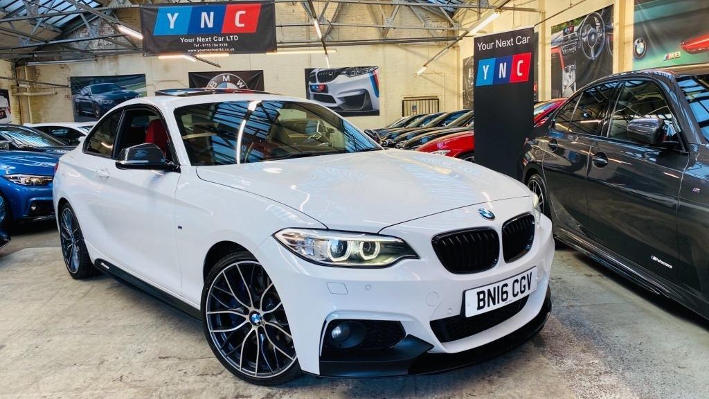 USED 2016 16 BMW 2 SERIES 2.0 225d M Sport Auto (s/s) 2dr Mperformancekit+19s+TOPSPECCAR