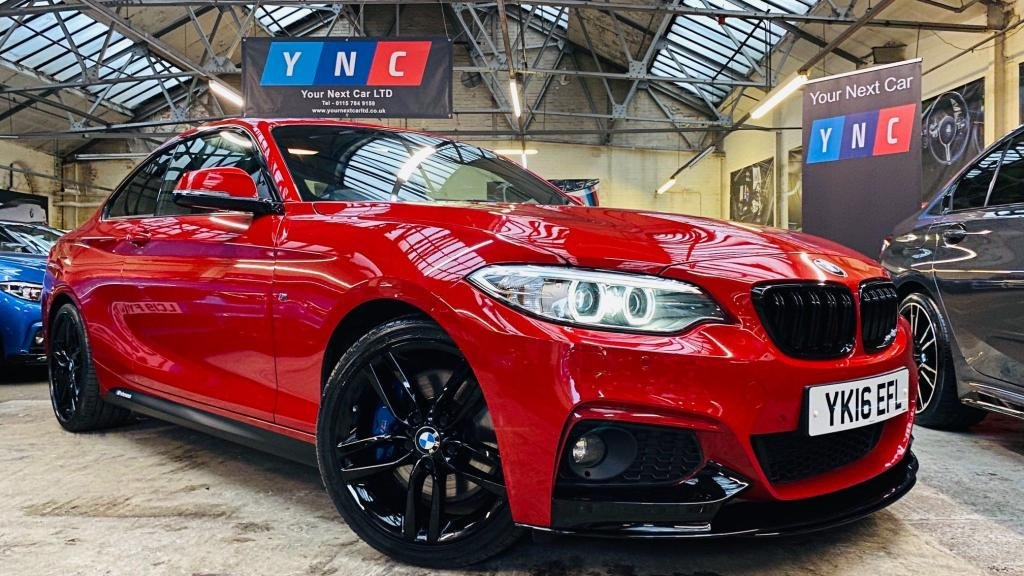 USED 2016 16 BMW 2 SERIES 2.0 220d M Sport Auto (s/s) 2dr PERFORMANCEKIT+PLUSPACK+8SPEED