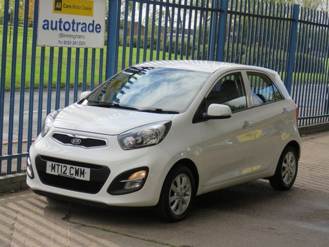 USED 2012 12 KIA PICANTO 1.2 2 ECODYNAMICS 5d 84 BHP Ideal 1st Car