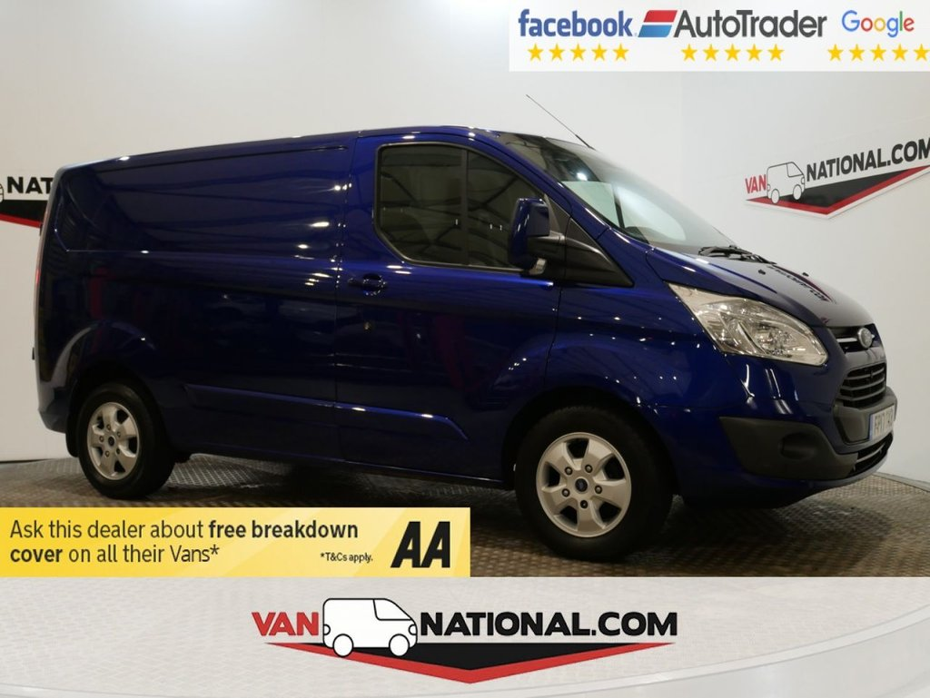 USED 2017 17 FORD TRANSIT CUSTOM 2.0 290 LIMITED LR P/V 130 BHP L1 H1 (SWB *EURO 6 * AIR CON * IMPACT BLUE*) * ONE OWNER * EURO 6 * AIR CON * ZERO DEPOSIT FINANCE AVAILABLE *