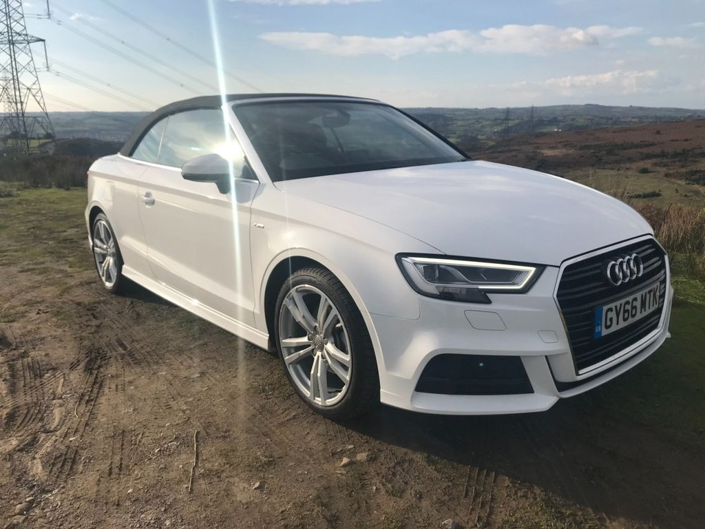 USED 2016 66 AUDI A3 2.0 TDI S LINE 2d 148 BHP Sun's out Top Down!!