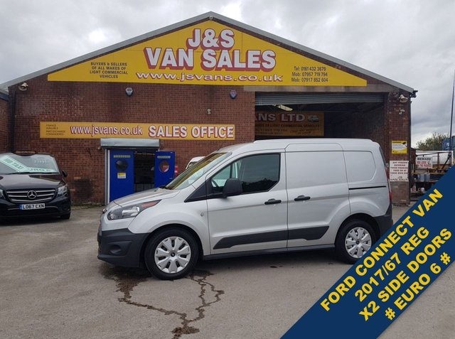USED 2017 67 FORD TRANSIT CONNECT T200 L1/H1 SWB SILVER 1 OWNER SERVICE RECORD  ###### BIG STOCK OVER VANS OVER 100 ON SITE #######