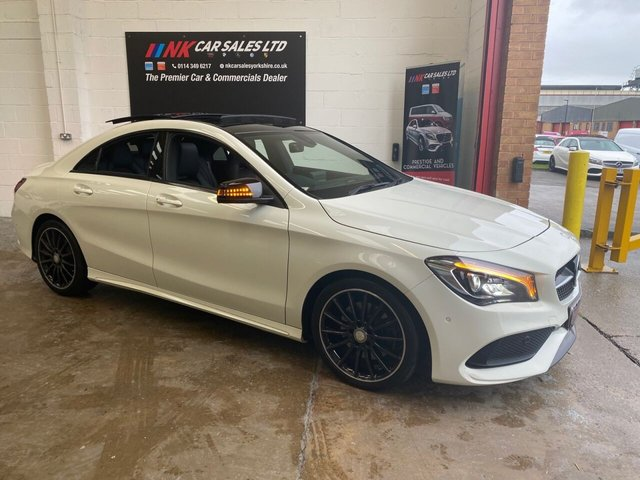 USED 2016 66 MERCEDES-BENZ CLA 2.1 CLA 220 D AMG LINE 4d 174 BHP FULL LEATHERS OPENING PAN ROOF MODEL SAT NAV  BUY ON PCP WITH £1K DEPOSIT FOR ONLY £328 PER MONTH