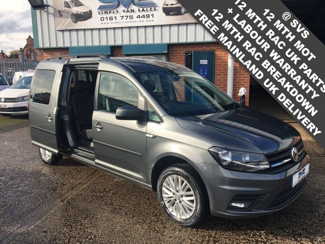 USED 2016 66 VOLKSWAGEN CADDY MAXI C20 TDI KOMBI LIFE MPV 7 SEATS AIR CON 6 SPEED 150BHP EURO 6 NO VAT!!
