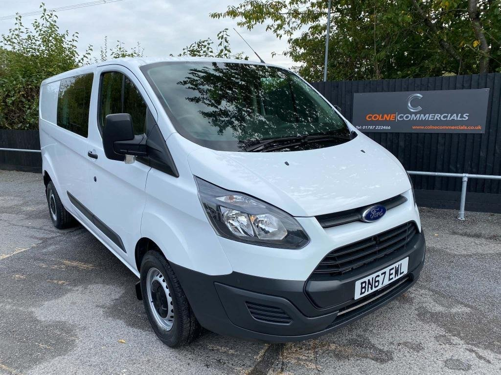 USED 2017 67 FORD TRANSIT CUSTOM 2.0 TDCi 290 Double Cab-in-Van L1 H1 6dr (EU6) **EURO 6**AIR-CON**130 PS**