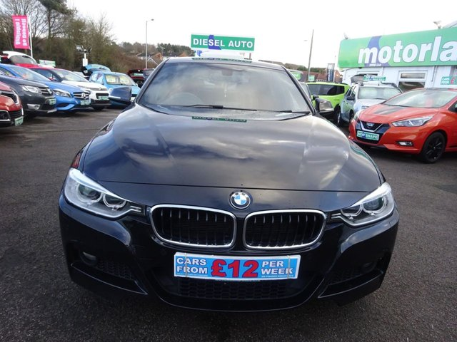 USED 2014 14 BMW 3 SERIES 2.0 320D M SPORT 4d 181 BHP FULL RED LEATHER....FRONT AND REAR PARKING SENSORS....KEYLESS GO....AMAZING SPECIFICATION