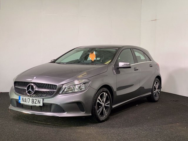 USED 2017 17 MERCEDES-BENZ A-CLASS 1.5 A 180 D SE 5d 107 BHP GENUINE LOW MILES + REVERSE CAMERA + FAUX LEATHER INTERIOR