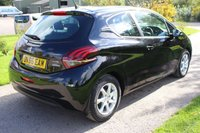 USED 2016 66 PEUGEOT 208 1.2 ACTIVE 3d 82 BHP One Owner Full History Warranty Included Spare keys Black