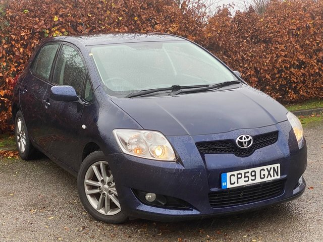 USED 2009 59 TOYOTA AURIS 1.6 TR VALVEMATIC MM 5d 131 BHP * LOW MILEAGE CAR * 12 MOMTHS FREE AA MEMBERSHIP *