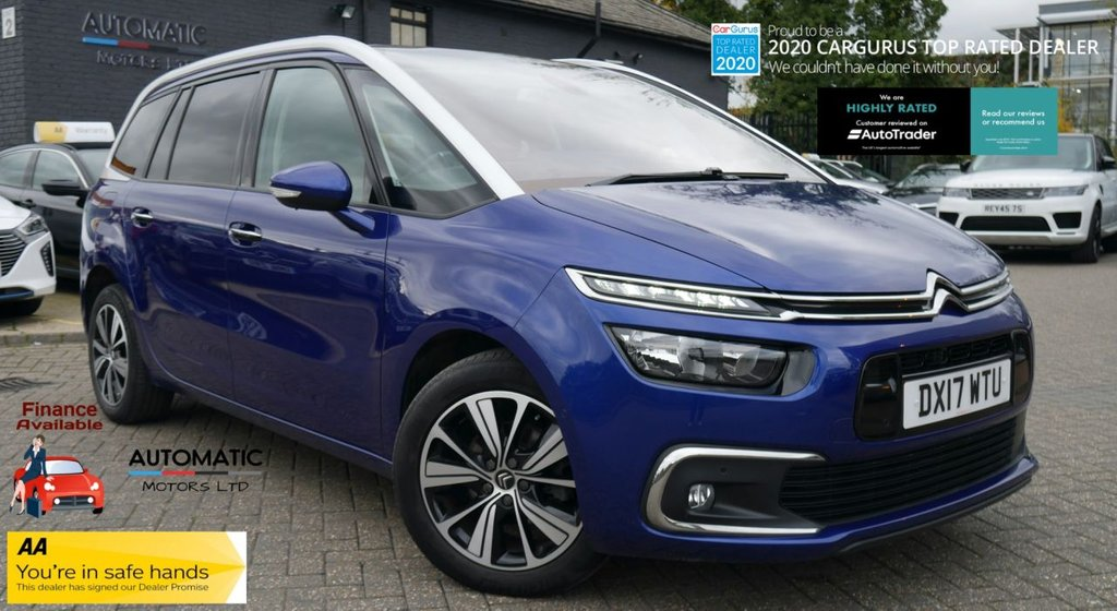 USED 2017 17 CITROEN C4 GRAND PICASSO 1.6 BLUEHDI FLAIR S/S EAT6 5d 118 BHP 2017 CITROEN C4 GRAND PICASSO 1 FROMER KEEPER,  2 KEYS, SAT NAV, PARKING SENSORS, CLIMATE CONTROL, PANORAMIC ROOF
