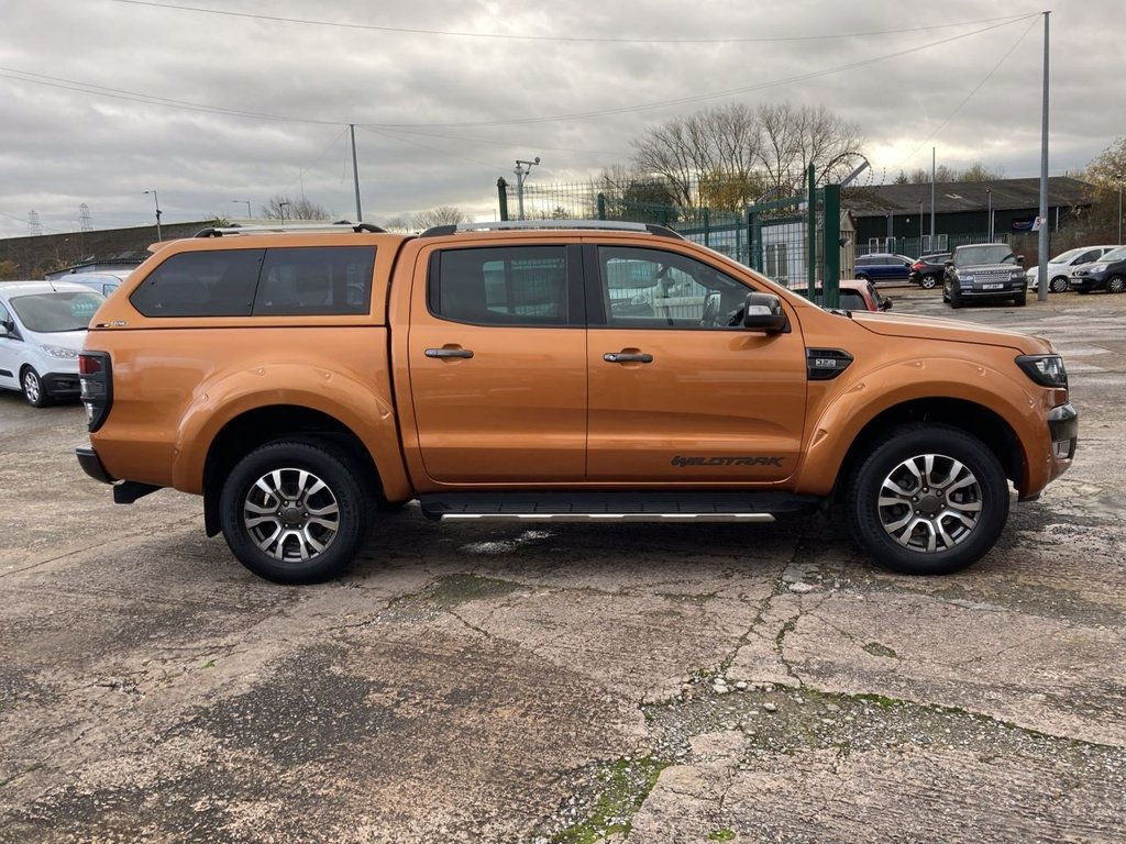USED 2018 68 FORD RANGER 3.2 WILDTRAK 4X4 DCB TDCI 4d 197 BHP TRUCKMAN HARD TOP TOW BAR 1 OWNER WARRANTY GREAT SPECIFICATION HARD TOP TOW BAR