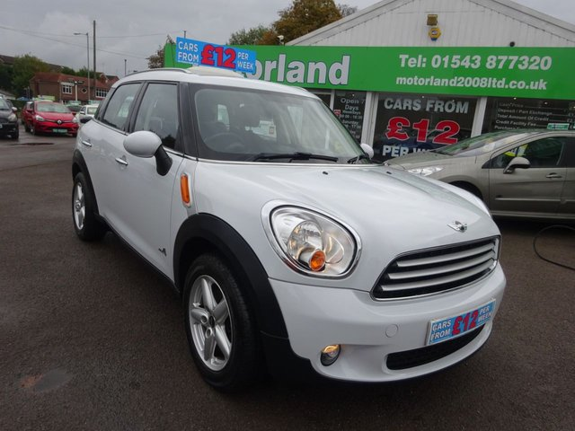 USED 2014 14 MINI COUNTRYMAN 1.6 COOPER ALL4 5d 121 BHP ** TEST DRIVE TODAY **JUST ARRIVED.01543 877320...SAT NAV**
