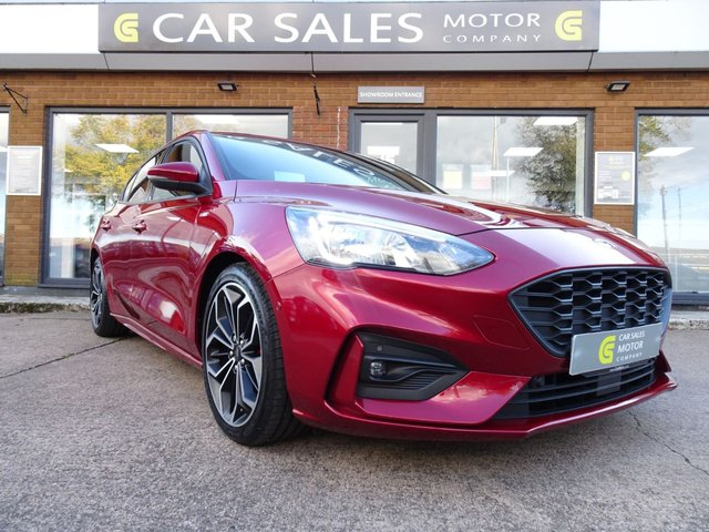 USED 2019 19 FORD FOCUS 1.5 ST-LINE X TDCI 5d 119 BHP ONE LADY OWNER FROM NEW, FULL SERVICE HISTORY, FULLY LOADED - HEADS UP DISPLAY, SAT NAV, PARK ASSIST WITH REVERSE PARKING CAMERA, DAB RADIO, BLUETOOTH, APPLE CAR PLAY, HPI CLEAR, 5 STAR RATED DEALERSHIP