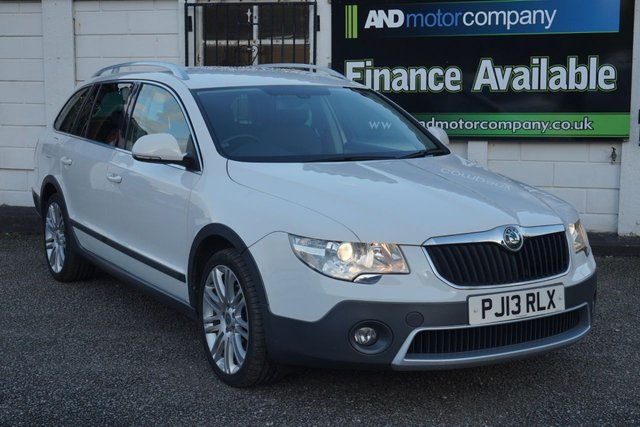 USED 2013 13 SKODA SUPERB 2.0 OUTDOOR 4X4 TDI CR 5d 140 BHP FSH, Timing Belt + Water Pump, Rare 4X4 Superb Estate